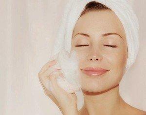 moistening skin