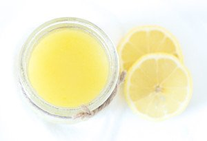 lemon lip scrub