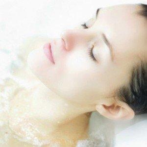 taking bath
