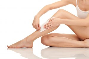 Depilation legs with waxing