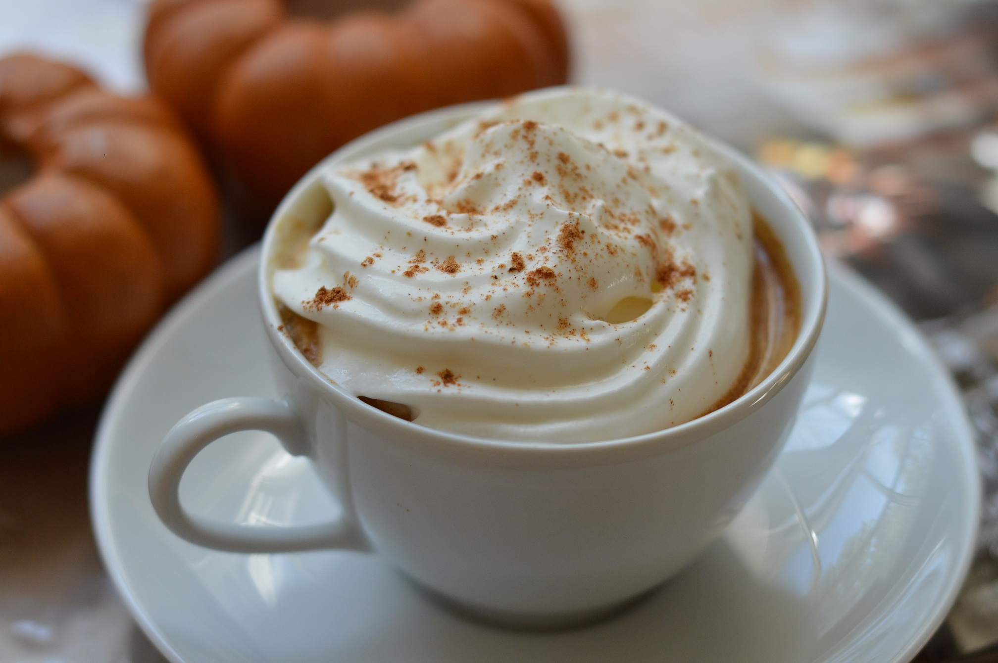 Coffee latte with pumpkin