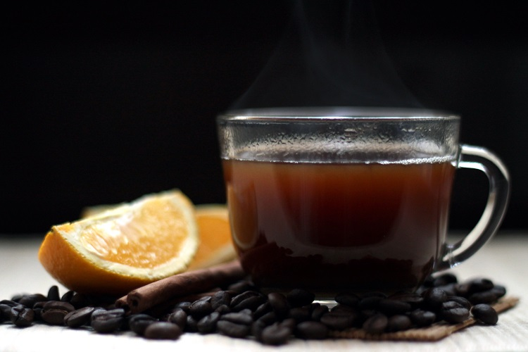 Jamaican coffee with oranges