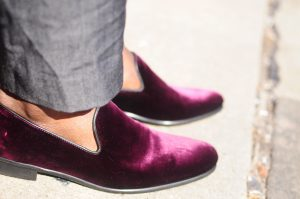 Velour shoe