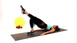 Semi-bridge leg workout