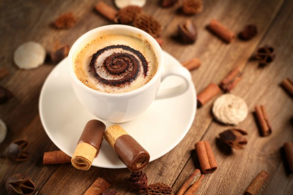 Coffee with cocoa