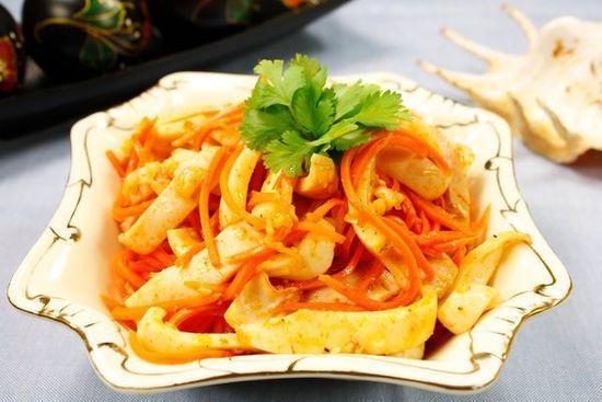 Korean carrots with squid