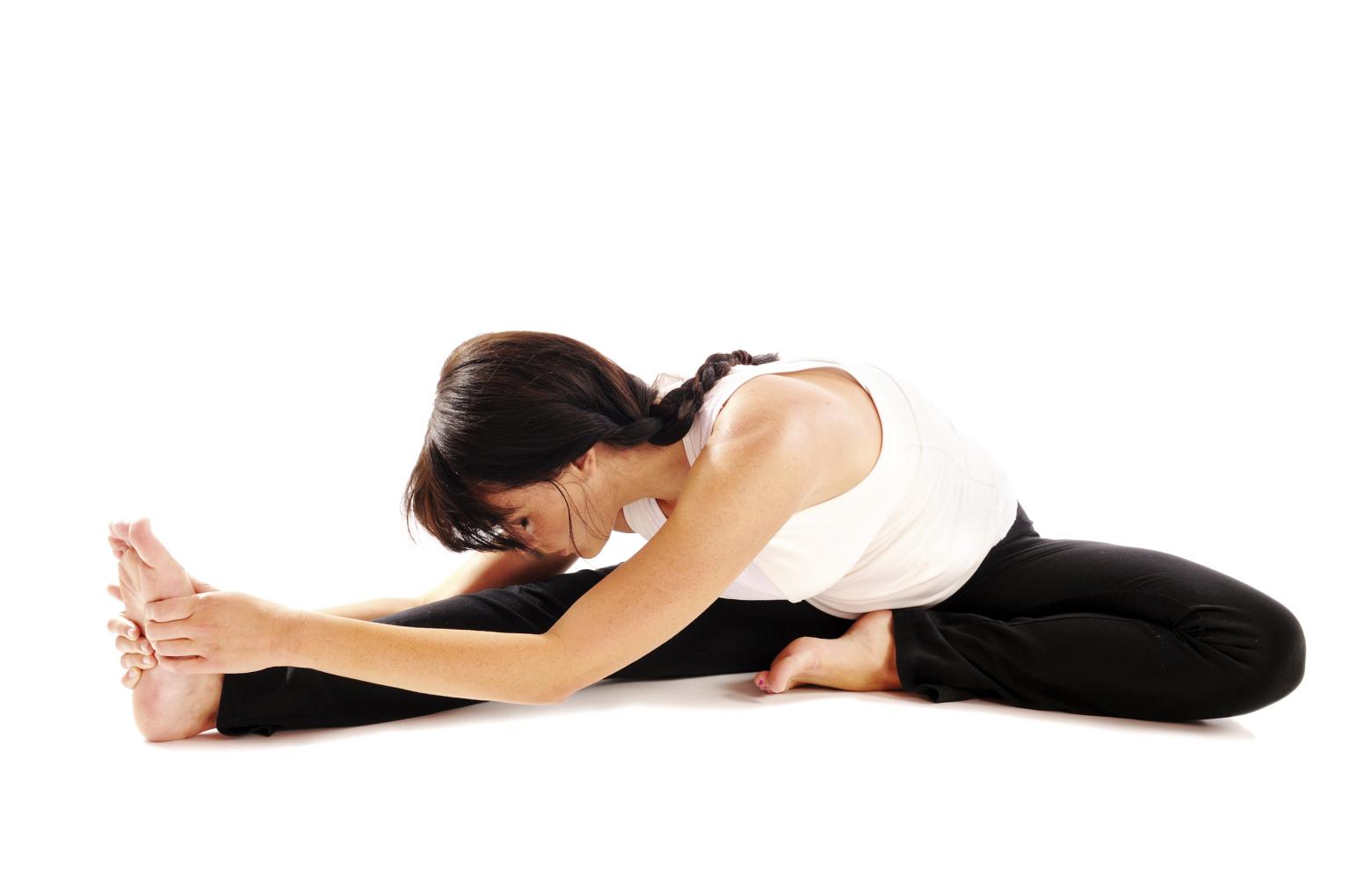 Yoga Pilates Single Leg Stretch